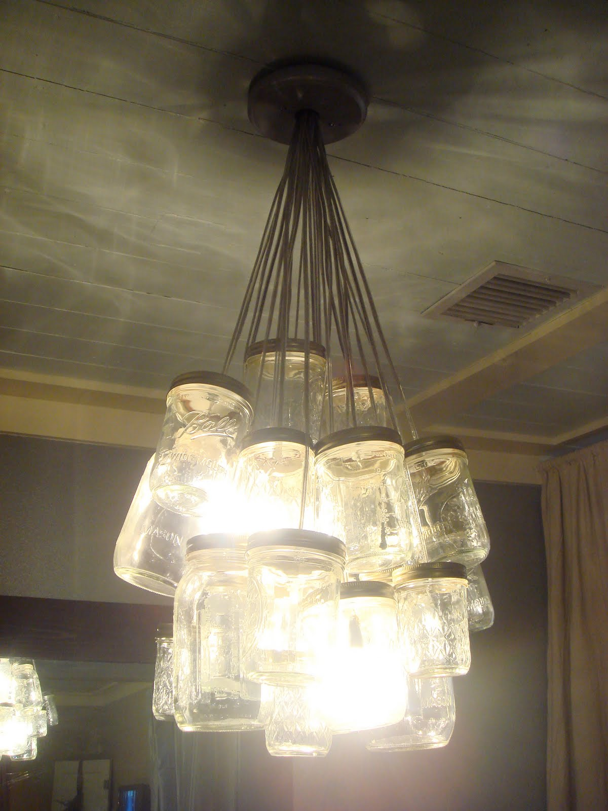 unique chandeliers, cool chandeliers, mason jars