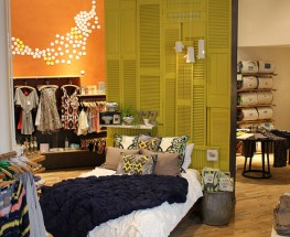 Anthropologie Display- Shutter Style Headboard