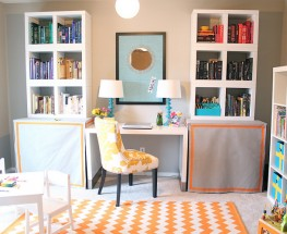 Bright and Colorful Office/Playroom Combo