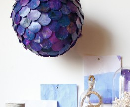 DIY Fish Scale Light Featured on Design Sponge