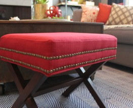 DIY Studded Stool