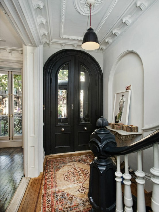 Foyer Door Trim : Paint em black kara paslay design