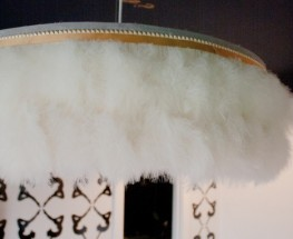 DIY Feather Fringe Chandelier