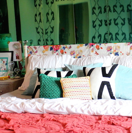 DIY Quick Change Headboard