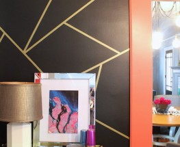 DIY Washi Tape Feature Wall